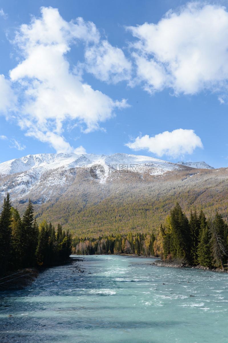 唯美图片 自然风景 新疆喀纳斯jpg