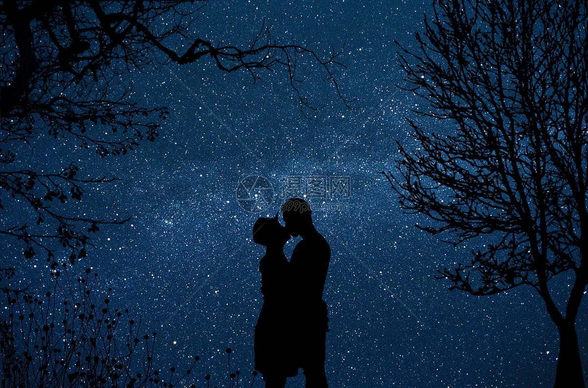 星空下拥吻的情侣图片素材_免费下载_jpg图片格式_vrf高清图片