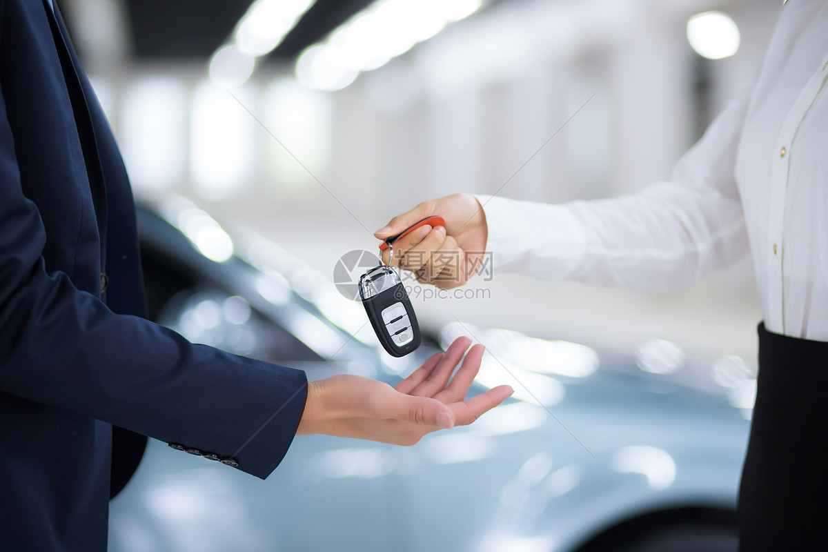 汽车销售交钥匙图片