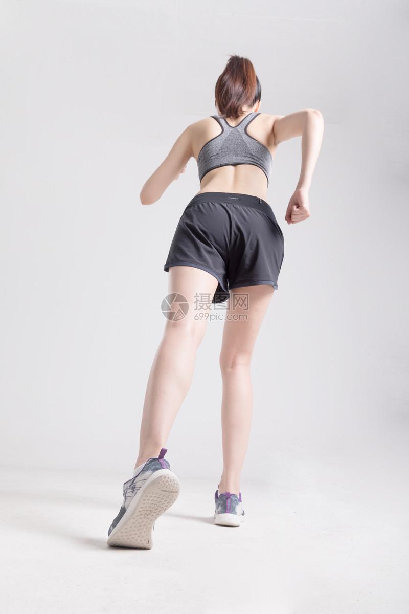 运动女性跑步背影图片素材_免费下载_jpg图片格式_vrf