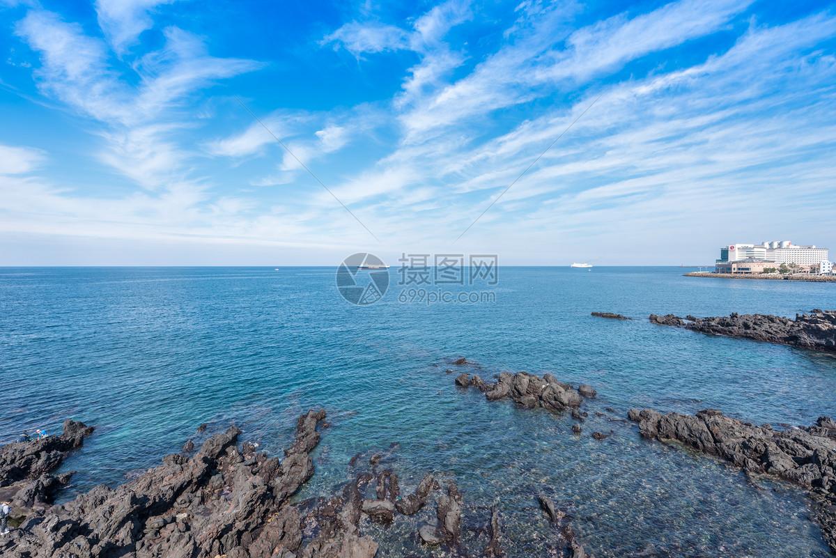 韩国济州岛龙头岩海滨