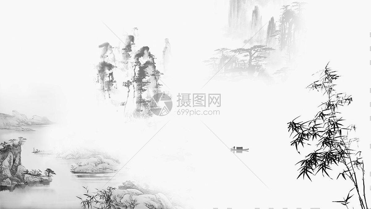 design 江河图片_江河素材_江河高清图片_摄图网图片下载  水墨风格