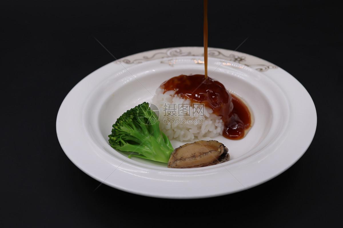鲍鱼捞饭图片
