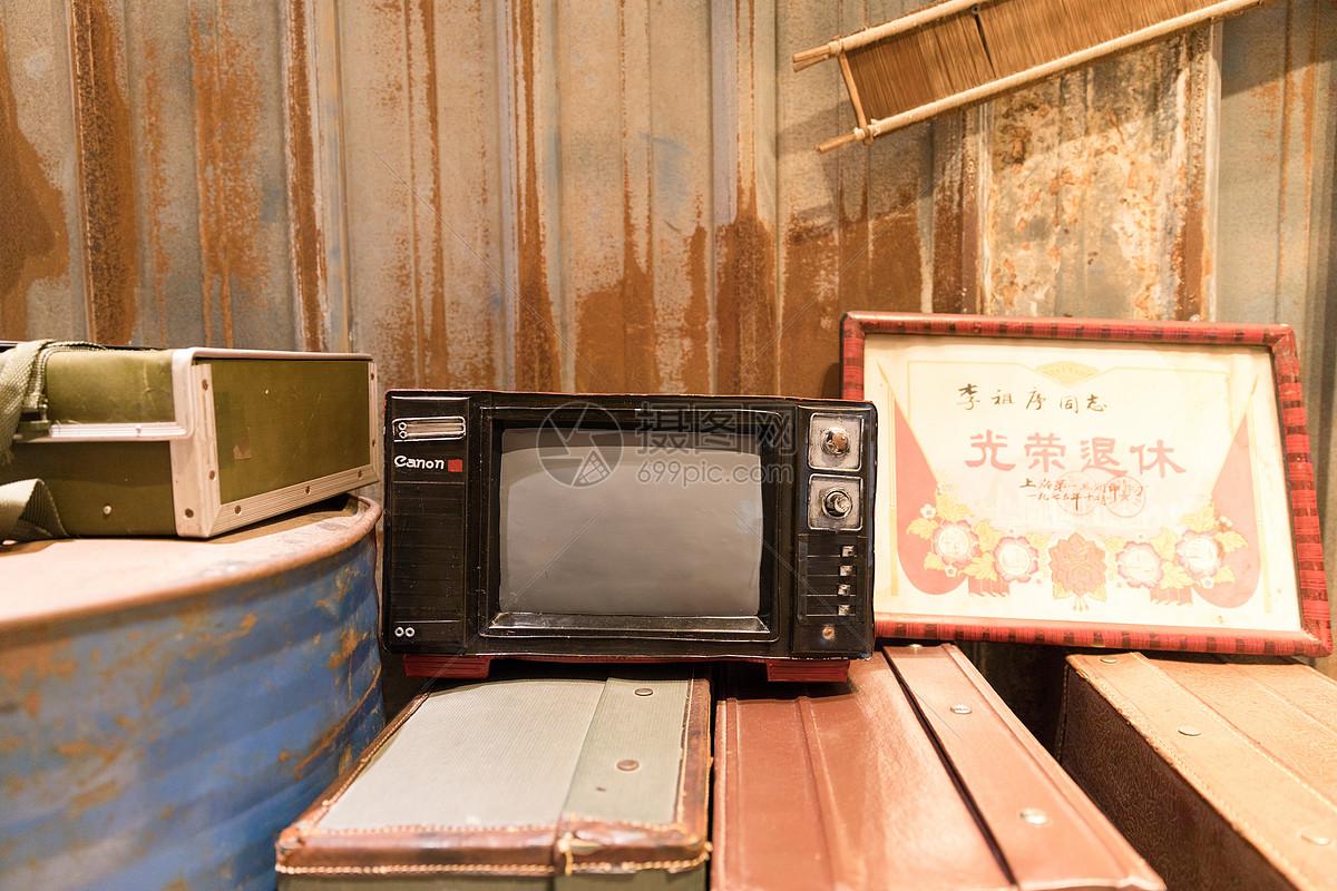 老式黑白电视机