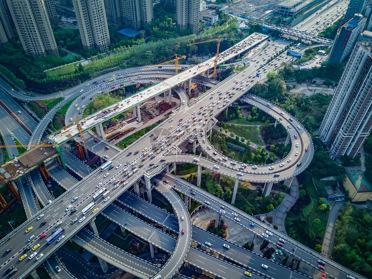 重庆鹅公岩立交桥航拍图片素材_免费下载_jpg图片格式_vrf高清图片