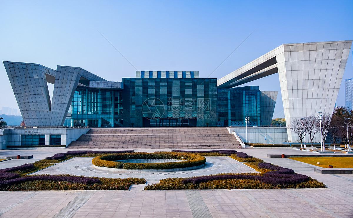 武汉琴台音乐厅全景图片素材_免费下载_jpg图片格式