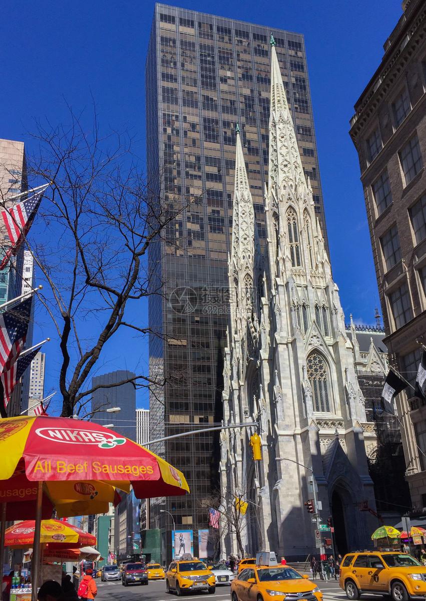 图片 照片 自然风景 美国纽约冬天的街景.jpg