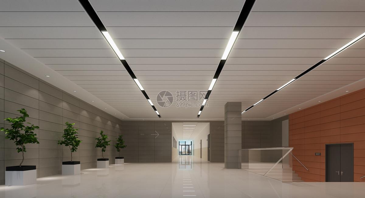 办公楼大厅室内装修效果图
