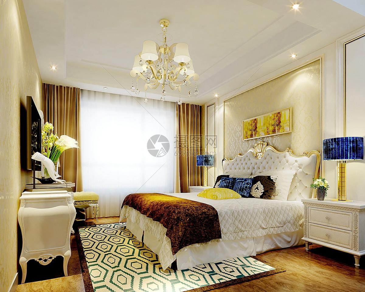 欧式卧室室内装修效果图