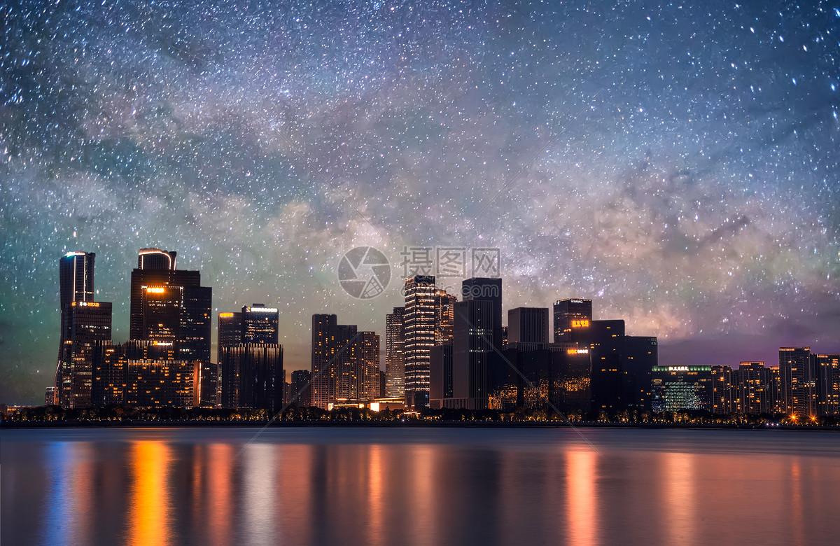 城市星空背景图片素材_免费下载_jpg图片格式_vrf高清