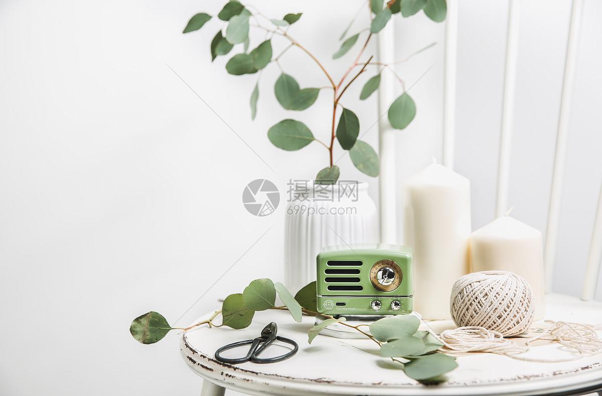 ins白绿清新文艺风格家居图片