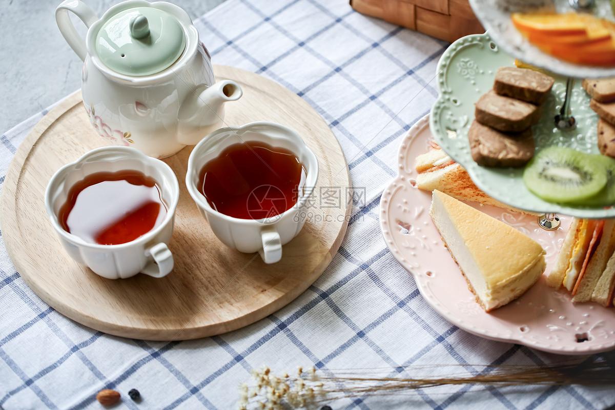 英伦风下午茶点心红茶