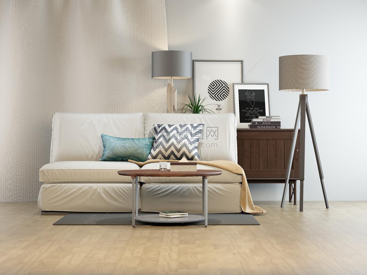 摄图网 创意合成 室内家具 沙发柜子组合效果图.jpg