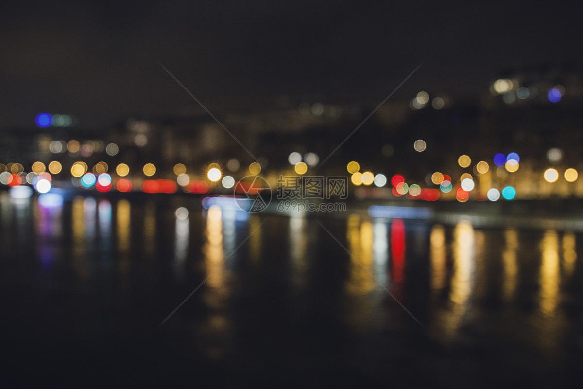 塞纳河边夜景图片素材_免费下载_jpg图片格式_vrf高清