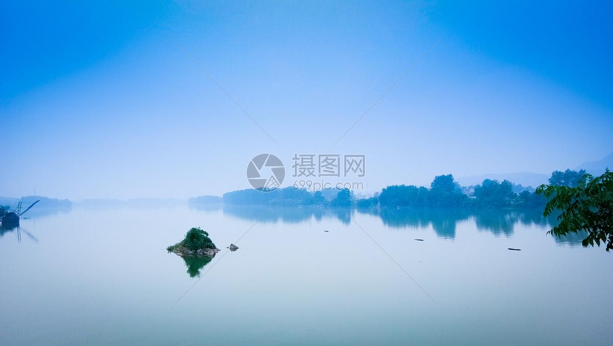 图片 照片 自然风景 禅意中国风意境湖泊.jpg