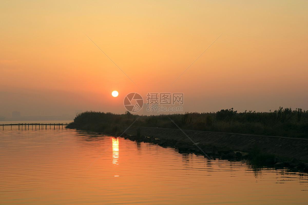 图片 照片 自然风景 昆承湖日出.jpg