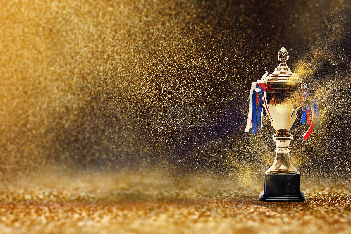 奖杯金色背景图片素材_免费下载_jpg图片格式_vrf高清图片500834881