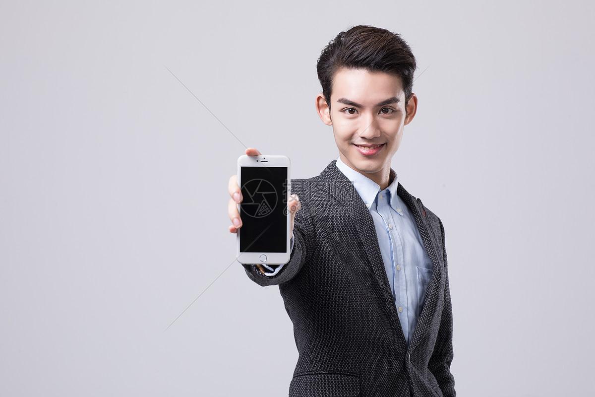 商务男性展示手机图片素材_免费下载_jpg图片格式_vrf