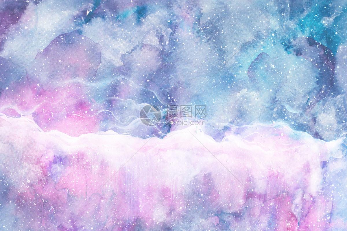 梦幻星空水彩背景图片素材_免费下载_jpg图片格式_vrf高清图片