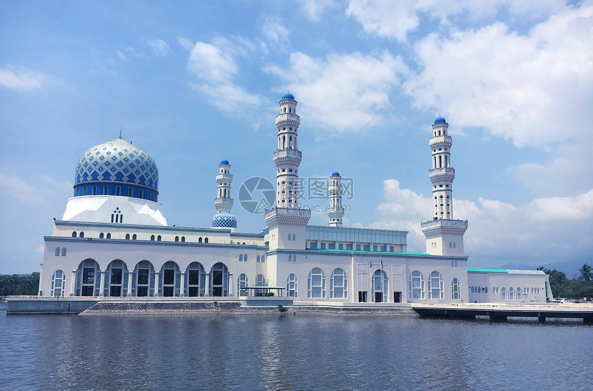 马来西亚沙巴水上清真寺图片