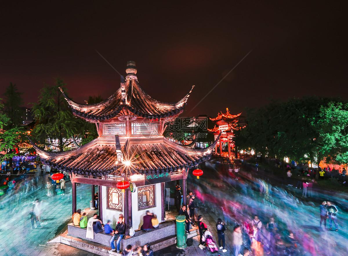 南京夫子庙夜景图图片