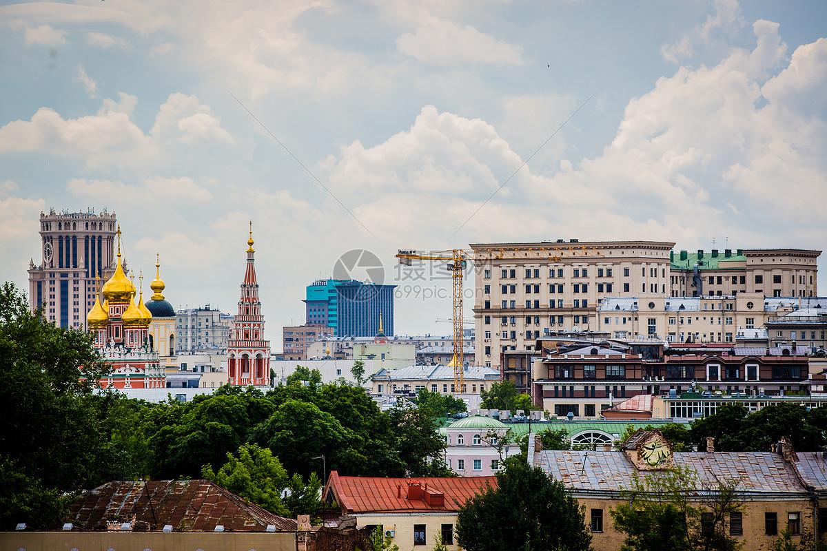 远眺俄罗斯俄式建筑图片