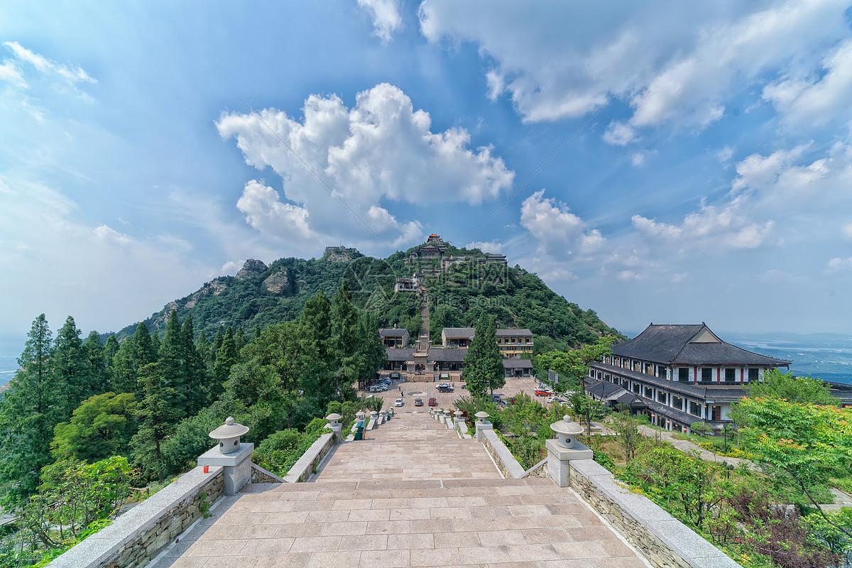 图片 照片 旅游度假 湖北黄陂木兰山景区全景.