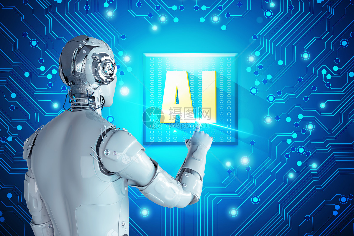 人工智能机器人触碰AI图片