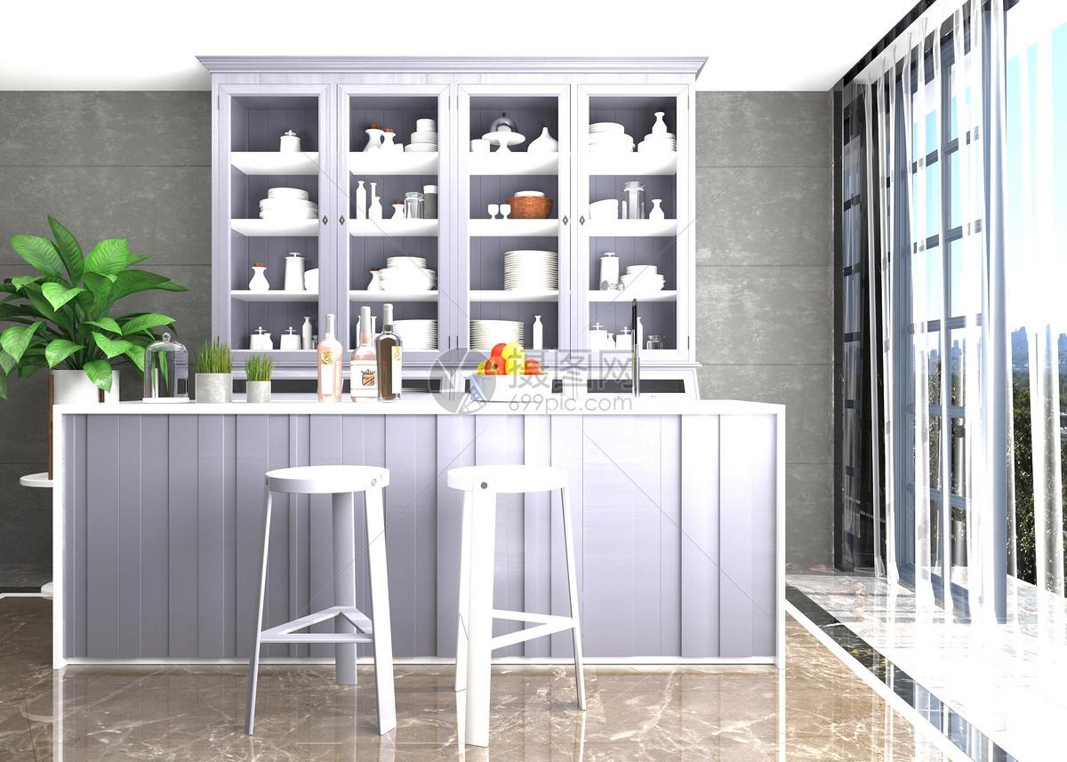 现代简约厨房空间图片