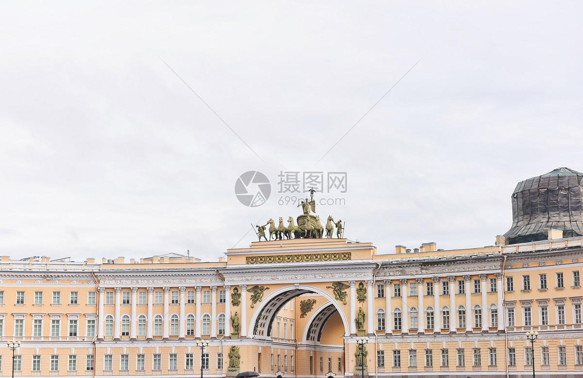 俄罗斯圣彼得堡冬宫广场图片