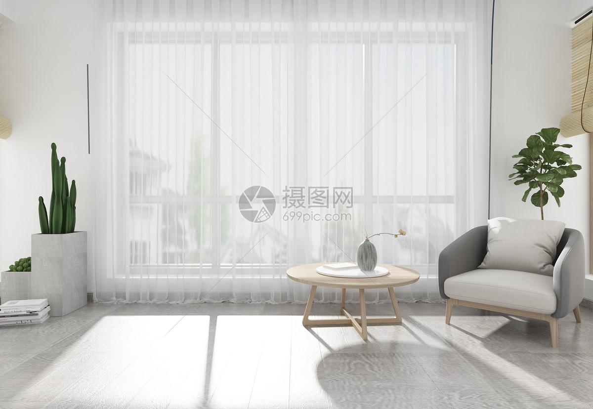 现代简洁风家居陈列室内设计效果图图片