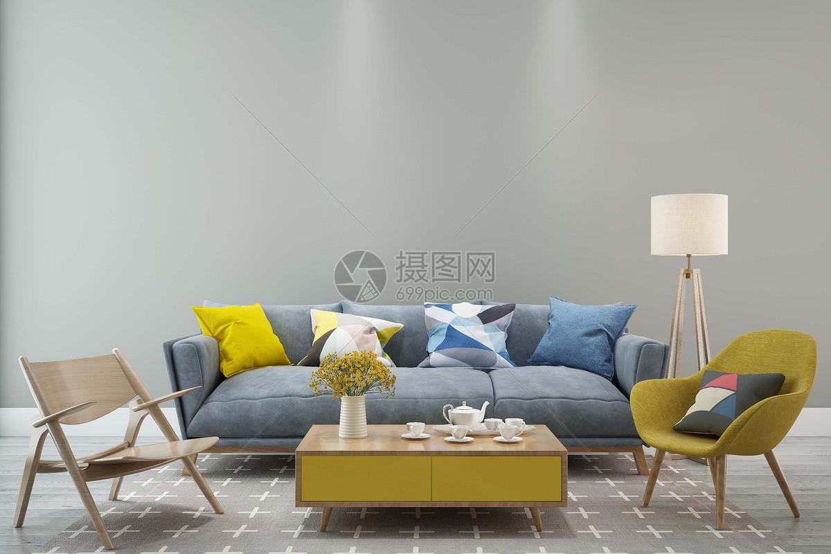 客厅空间场景设计图片素材_免费下载_jpg图片格式_vrf