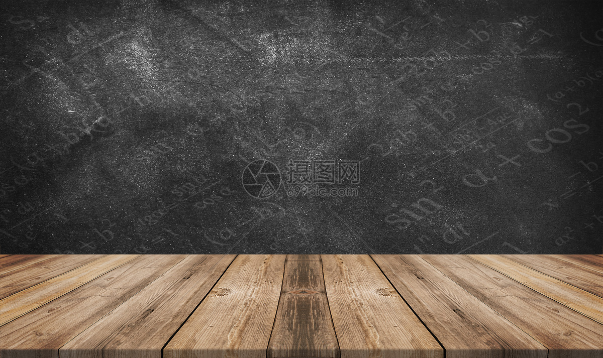 黑板墙背景图片