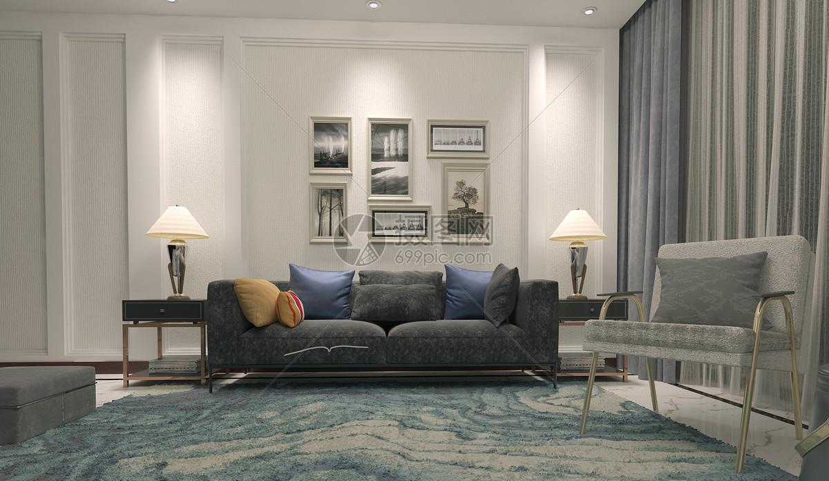 沙发台灯组合图片