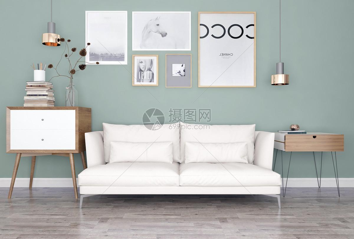 沙发边几组合图片