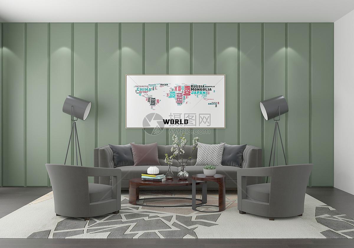 现代客厅图片