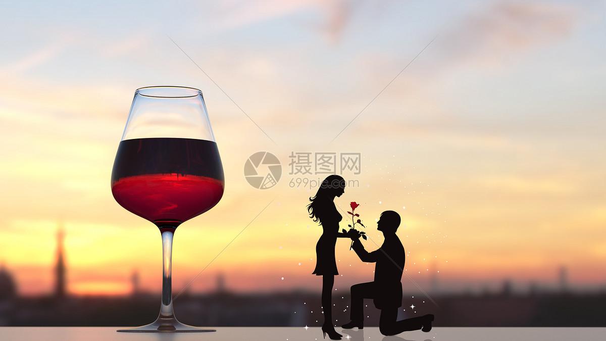 七夕浪漫情侣图片