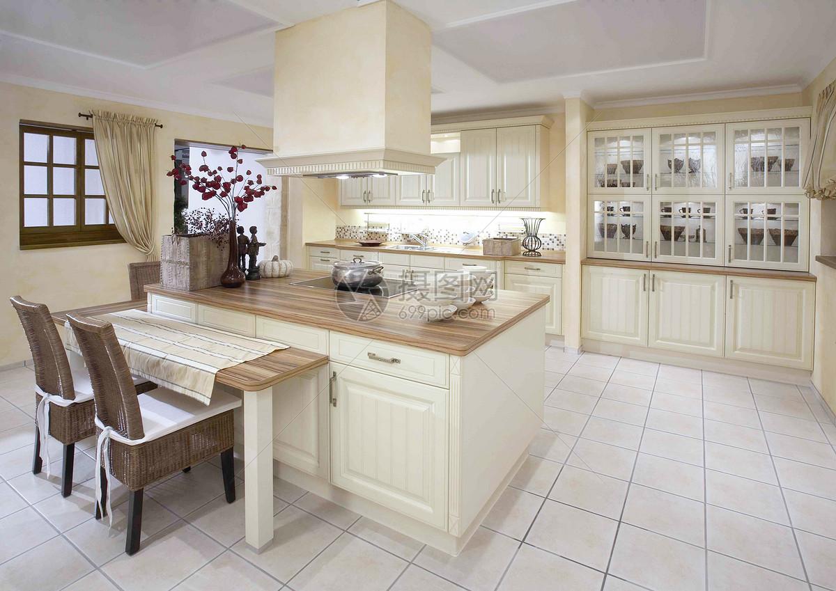 现代厨房餐桌中岛式厨房效果图图片中岛式厨房效果图图片免费下载显示