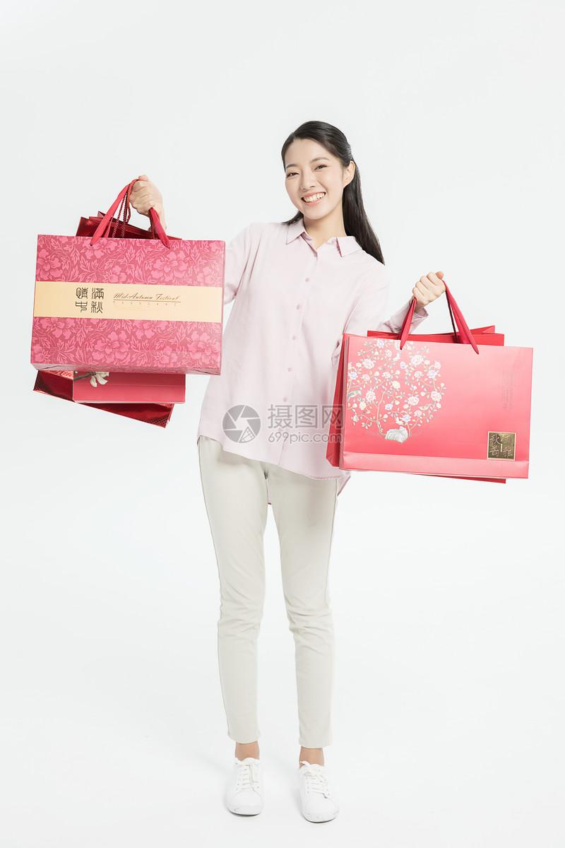 中秋购物图片