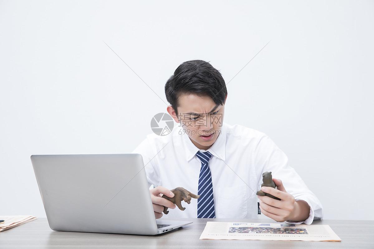 商务男性股市熊市图片