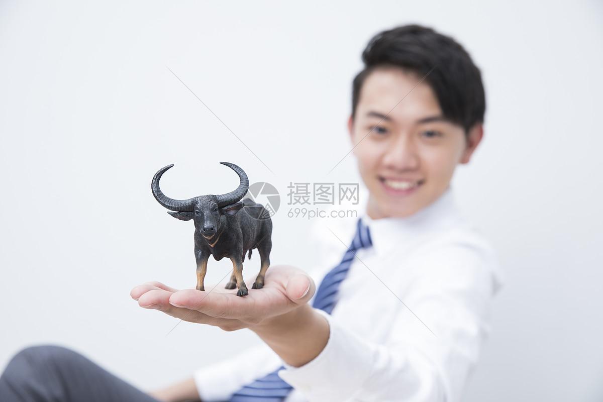 商务男性股市牛市图片