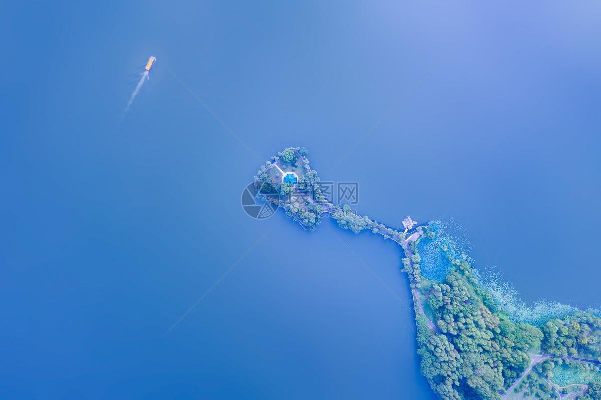 武汉东湖航拍图片
