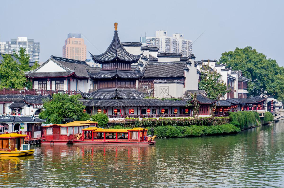 秋天的秦淮河图片