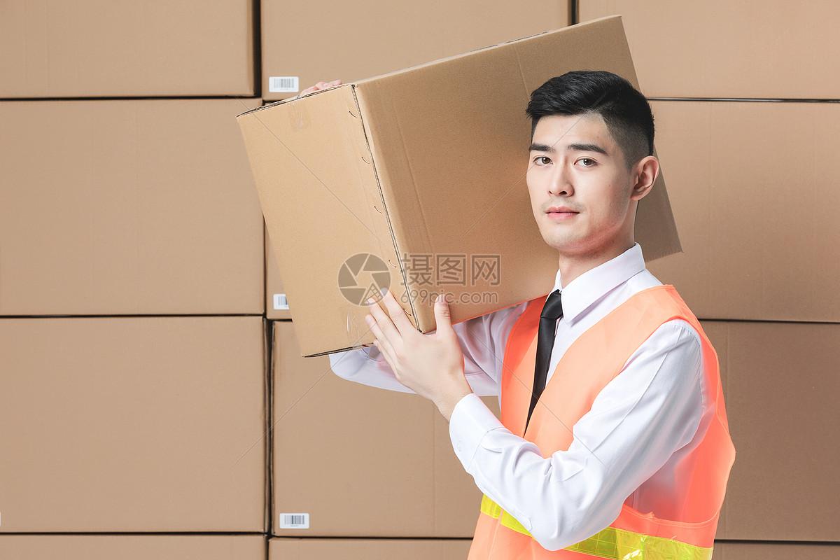 仓储物流男性形象图片
