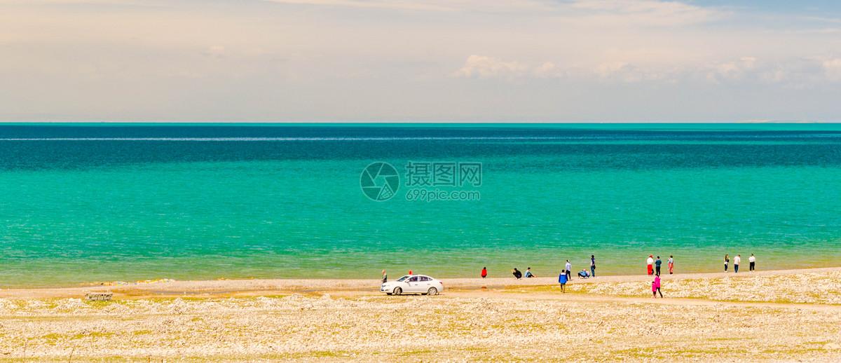 草原雪山青海湖图片