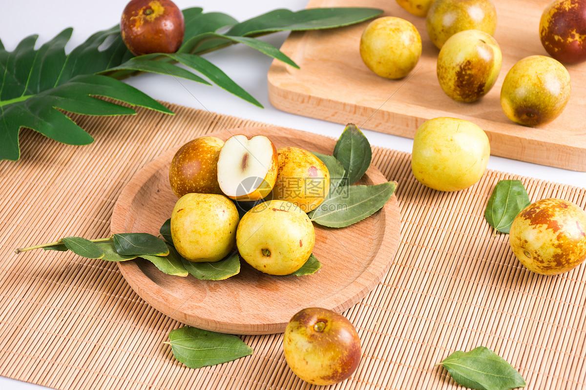 新鲜冬枣图片