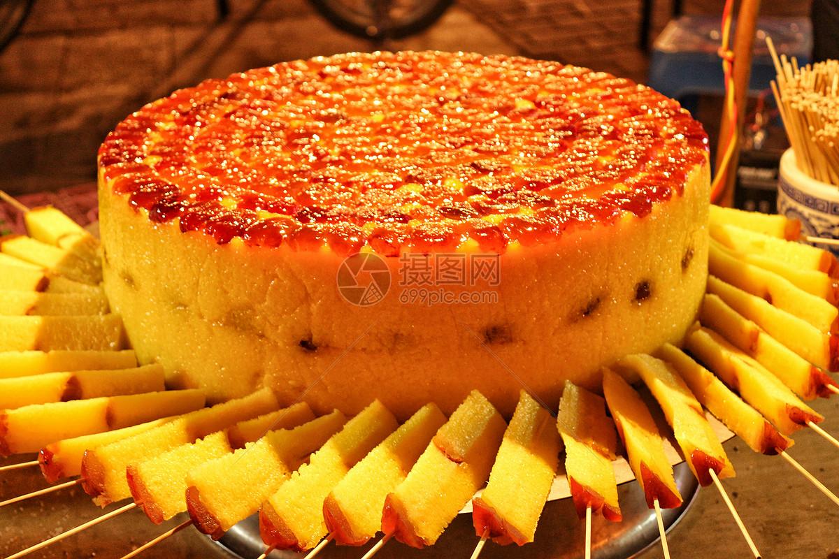 西安回民街特色小吃甑糕图片