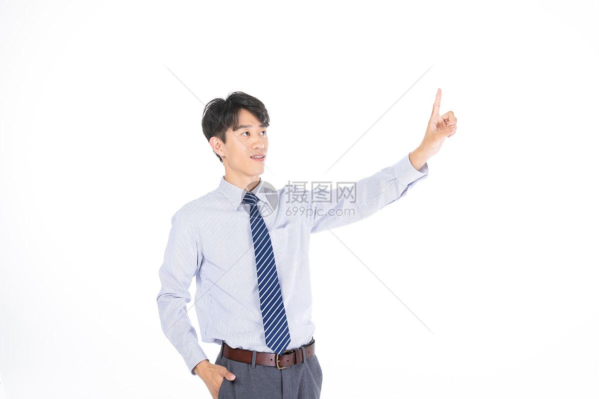 科技商务男性点击形象图片