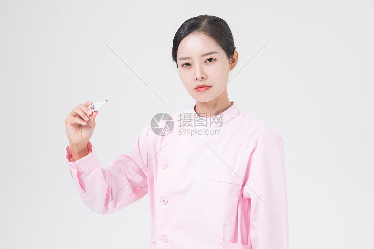 护士体温计图片
