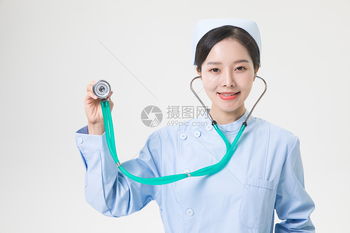 女性护士听诊器图片